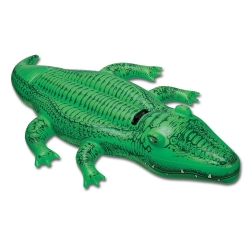 BOUEE GONFLABLE A CHEVAUCHER 203X114CM FORME CROCODILE CA6 REF 58562
