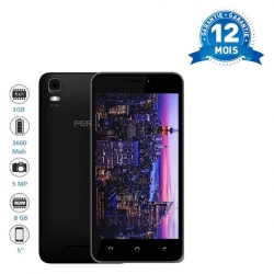 FERO POWER - 3G - 5 POUCES - HD -1,3GHZ QUAD CORE - 8GB ROM - 1GO RAM - 3600MAH - 5,0 MEGAPIXELS - DUAL SIM - NOIR