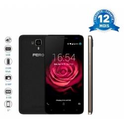 FERO ZOOM- 4G - 5 POUCES - HD - 1,3GHZ QUAD CORE - 8GB ROM - 1GO RAM - 2100 MAH - 8,0 MEGAPIXELS - DUAL SIM - NOIR OR