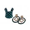 NANAWAX - Bracelet et boucles d'oreilles écailles bleu