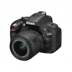 NIKON D5200 REFLEX + OBJECTIF 18-55 MM VR - 24.1 MÉGAPIXELS - FLASH INTÉGRÉ - NOIR