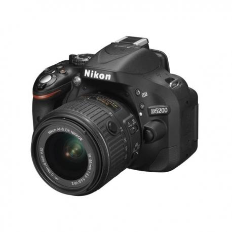 nikon d5200 reflex objectif 18 55 mm vr 24 1 m gapixels flash int gr noir afrikdiscount