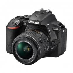 NIKON D5500 APPAREIL PHOTO NUMERIQUE REFLEX - 24,2 MEGAPIXELS - KIT OBJECTIF AF-P 18-55 mm VR - Noir