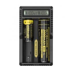 Chargeur Batteries LCD Universel Nitecore UM20 Haute Qualitée - Noir