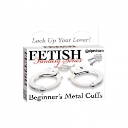 Menottes metal - Beginner's Metal Cuffs Fetish Fantasy - Metal