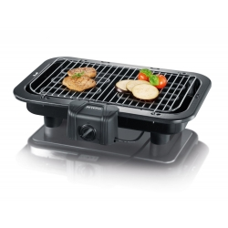 BARBECUE ELECTRIQUE SEVERIN 2500W DE TABLE - CA1 - 41 x 26 cm - NOIR - REF 2790