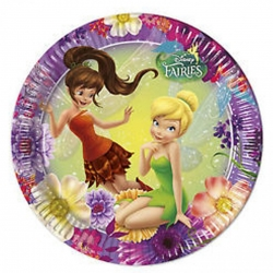 ASSIETTE JETABLE EN CARTON 23CM SET DE 8 PIECES FAIRIES CA25 REF 85242