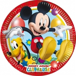 ASSIETTE JETABLE EN CARTON 23CM SET DE 8 PIECES MICKEY CA25 REF 81508
