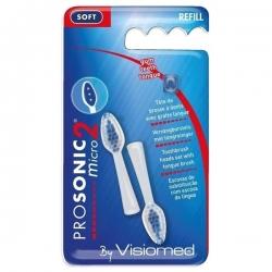 Blister de 2 têtes de brosse à dent - Souple - Visiomed