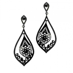 AKIJA COLLECTION - Boucle d'oreille BACK TO BLACK
