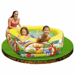 PISCINE GONFLABLE 191X178X61CM DISNEY WINNIE L'OURSON
