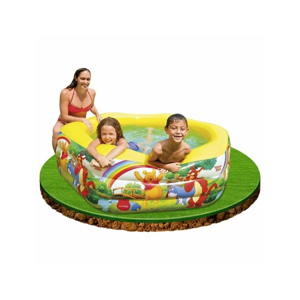 Sport aquatique piscine gonflable 191x178x61cm disney for Piscine winnie l ourson