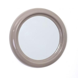 MIROIR DE SALLE DE BAIN EN PVC 30CM ROND GRIS REF 116704