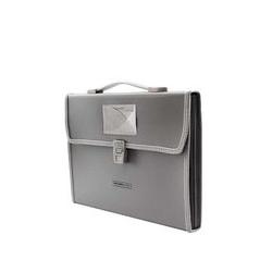 Cartable PVC - 12 Divisions Avec Pochette - Gris/Transparent - Garantie 1 Mois