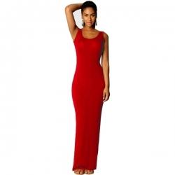 Longue robe rouge moulante
