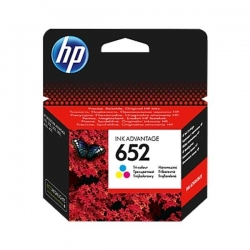 HP 652 cartouches Ink Advantage trois couleurs - F6V24AE