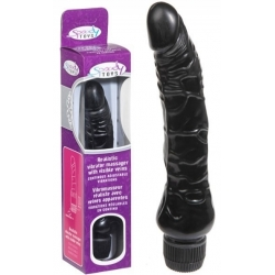 Vibromasseur Black Multi Speed réaliste 23 cm
