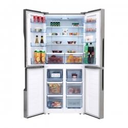 HISENSE Réfrigérateur Américain - RQ-56WC4SA - NO FROST - 432 Litres - 4 Battants - Gris