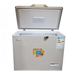 SMART TECHNOLOGY Congélateur Horizontal Battant Chromé - STCC-350XLS - 275 Litres - Gris/Argent - 140 x 65 x 88 cm