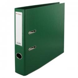 Lot De 5 Classeurs -Plastique -Avec Perforateur- Standard-Dos 8-Vert