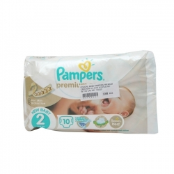 COUCHE BEBE PAMPERS PREMIUM 3-6KG 10 PIECES