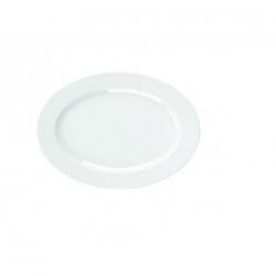 """ASSIETTE OVALE PLATE EN PORCELAINE - Diam 25 Cm - 10"""""""