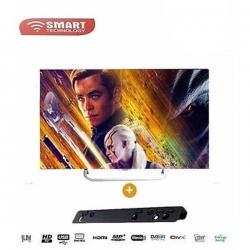 "SMART TECHNOLOGY TV LED HD - 24"" - STT-5024 Ou STT-5524E - Noir - 12 Mois"