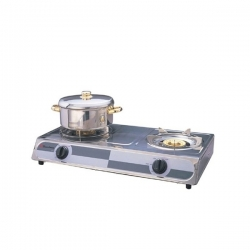 Binatone Gaz de table - SSGC-0002 - 2 feux - Inox