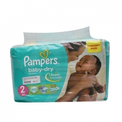 COUCHE BEBE PAMPERS DRY MINI 3-6KG 40PIECES