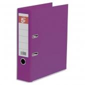 Lot de 5 Classeurs- En plastique -Avec Perfo -Exacompta -Dos 8 Cm - coloris violet
