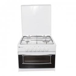 YUCEL Cuisinière 4C-W - 4 Feux - Bruleur à gaz - 51x57x44 cm - Blanc