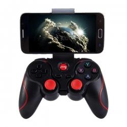 Manette de Jeu Bluetooth Sans fil avec Support Réglable pour Smartphone Android - Noir/Rouge