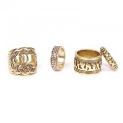 """Set de 4 bagues Fashion collection """"Tempura"""" Gold"""
