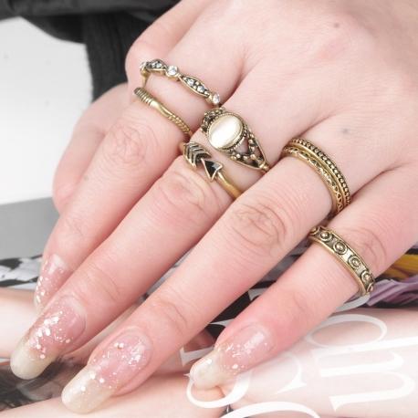 """Set de 7 bagues Fashion collection """"astra"""" - bijoux"""