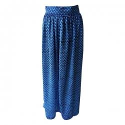 Longue jupe Nanawax Écaille BLEU