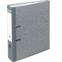 Lot De 5 Classeurs -Carton-Sans Perforations-Exacompta-Dos 8 cm- Coloris Gris