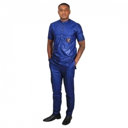 Ensemble Monsieur BARROS Bleu simple manche courte