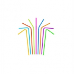 Pailles Flexibles en Plastique pour Boisson, 200pcs