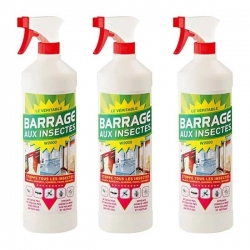 Barrage Aux Insectes X3 -Insecticide - 1L - TELESHOPPING