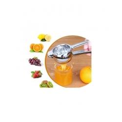 Extracteur de jus - Presse citron manuel en acier inox - Gris