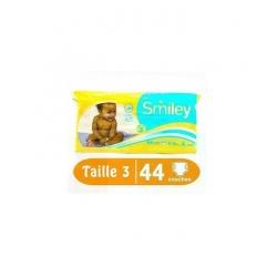 SMILEY Couches Bébé, Taille 3 (5 - 10 Kg), 44 Couches