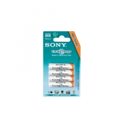 Pack de 4 Piles Rechargeables Sony AAA Battery 800mAh