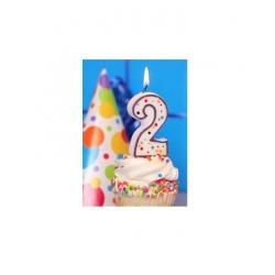 Bougie pour gâteau d'anniversaire 2 ans