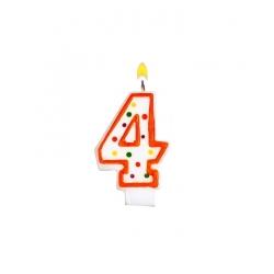 Bougie pour gâteau d'anniversaire 4 ans
