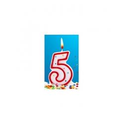 Bougie pour gâteau d'anniversaire 5 ans