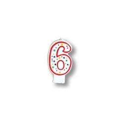 Bougie pour gâteau d'anniversaire 6 ans