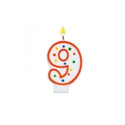 Bougie pour gâteau d'anniversaire 9 ans