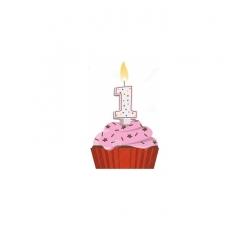 Bougie pour gâteau d'anniversaire 1 an