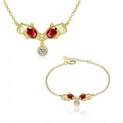 """Coffret collier et chaîne bracelet collection """"Déesse"""""""
