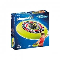 Playmobil - Spationaute avec soucoupe volante - Réf 6183